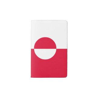 Greenland Flag Pocket Moleskine Notebook