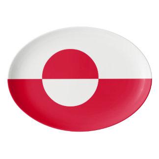 Greenland Flag Porcelain Serving Platter