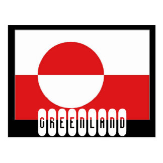 Greenland flag postcard