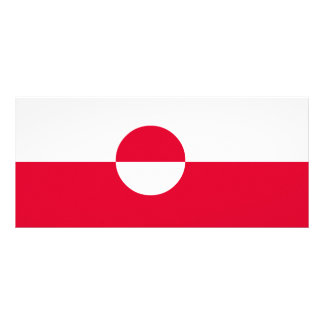 Greenland Flag Rack Card