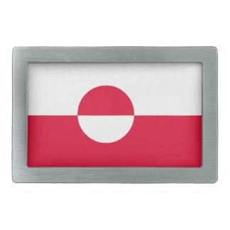 Greenland Flag Rectangular Belt Buckle