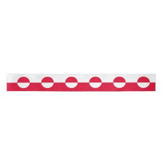 Greenland Flag Satin Ribbon