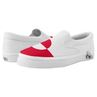 Greenland Flag Slip-On Sneakers
