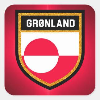Greenland Flag Square Sticker