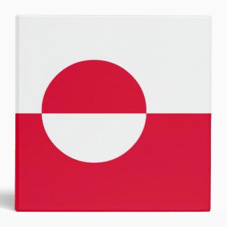 Greenland Flag Vinyl Binders