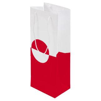 Greenland Flag Wine Gift Bag