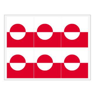 Greenland Flag Wine Label