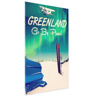 Greenland 'Go By Plane!' Canvas Print