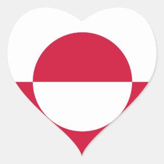 greenland heart sticker