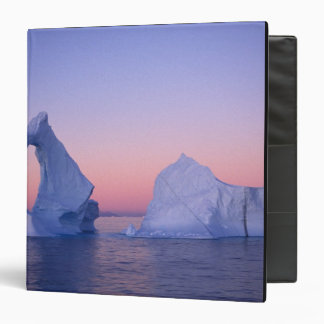 Greenland, Iceberg at sunset. 3 Ring Binders