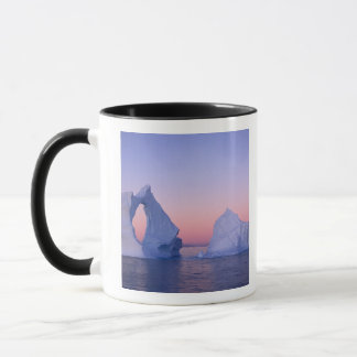 Greenland, Iceberg at sunset. Mug