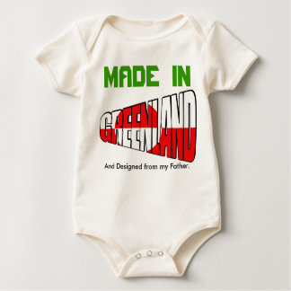 Greenland MADE  IN And Designed from my Father. Baby Bodysuit