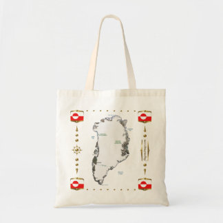 Greenland Map + Flags Bag