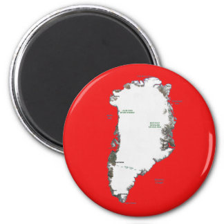 Greenland Map Magnet