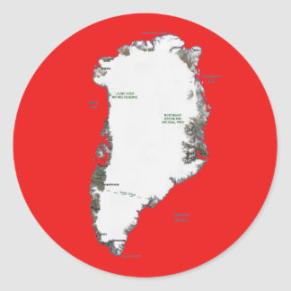 Greenland Map Sticker