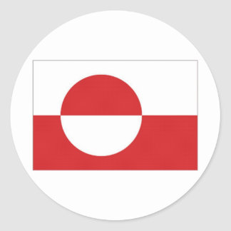 Greenland Territory Flag Classic Round Sticker