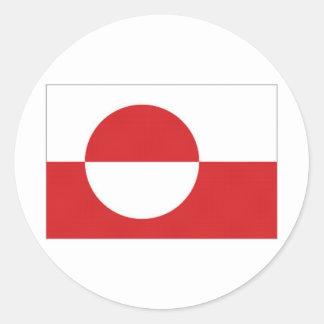 Greenland Territory Flag Round Sticker
