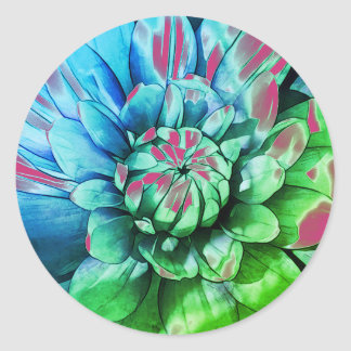 Greenleaf Fancy Dahlia Classic Round Sticker