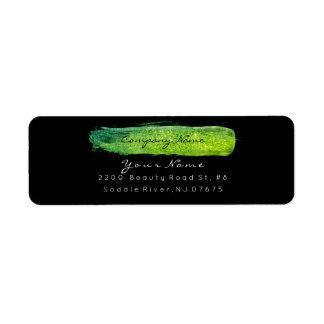 Greenly Lemon Sparkly Glitter VIP Return Adress Return Address Label