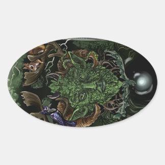 GreenMan Oval Sticker