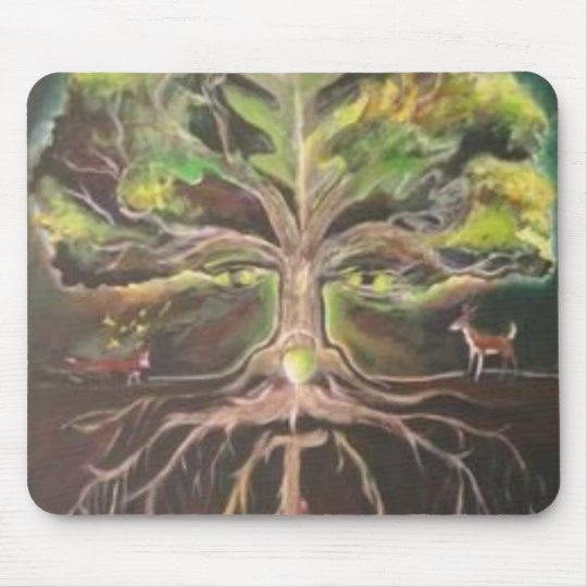 Greenman-tree of life Mousepad - Customized