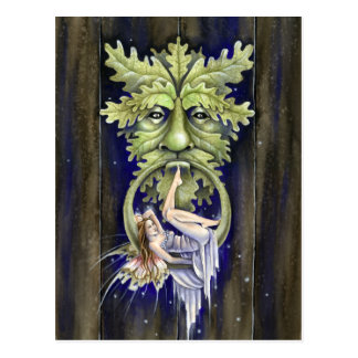 Greenman's Door Postcard