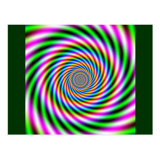 Greenpink Optical Illusion Postcard