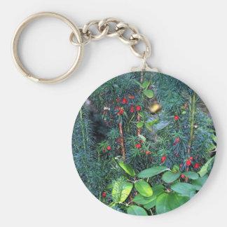 greens basic round button keychain