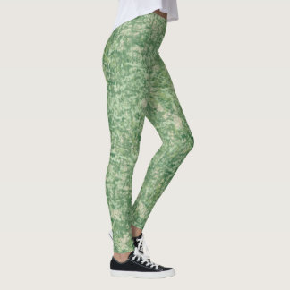 Greens Textured by Shirley Taylor Leggings