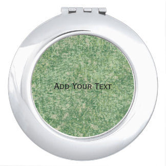 Greens Textured by Shirley Taylor Mirror For Makeup