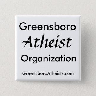 Greensboro, Atheist, Organization, GreensboroAt... 2 Inch Square Button