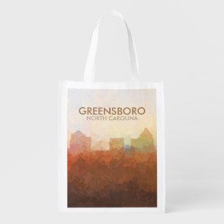 Greensboro, horizon d'OR EN NUAGES Sacs D'épicerie