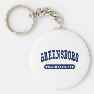 Greensboro North Carolina College Style tee shirts Keychain