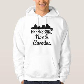 Greensboro North Carolina Skyline Hoodie