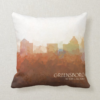 Greensboro, North Carolina Skyline-In the Clouds Throw Pillow