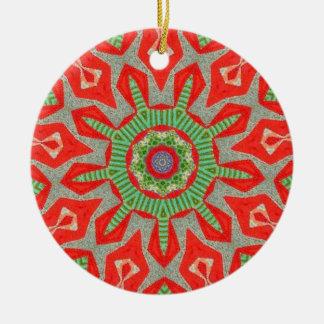Greensleeves Fractal Ceramic Ornament