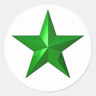 GreenStarButton Classic Round Sticker