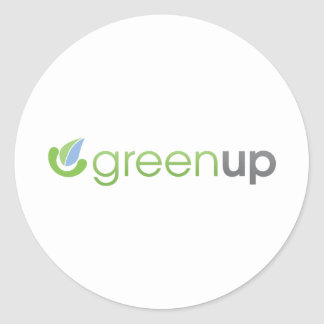 GreenUp Horizontal Logo Classic Round Sticker