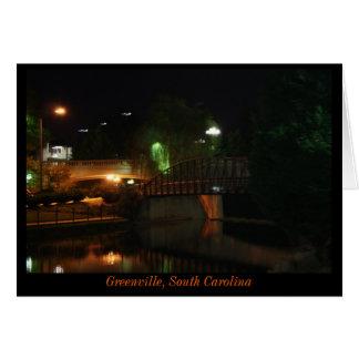 Greenville at Night Card