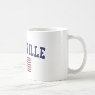 Greenville SC US Flag Classic White Coffee Mug