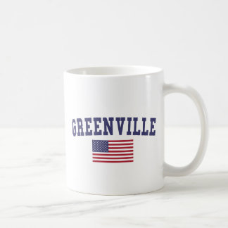 Greenville SC US Flag Coffee Mug