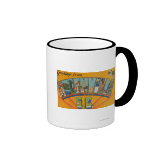 Greenville, South Carolina - Large Letter Scenes Coffee Mug