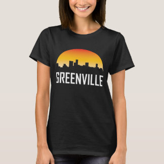 Greenville South Carolina Sunset Skyline T-Shirt
