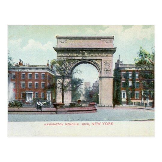 Greenwich Village, New York City Vintage Postcard