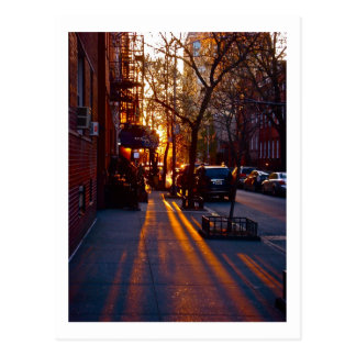 GREENWICH VILLAGE SUNSET (c) 2012 S.Tammany Postcard