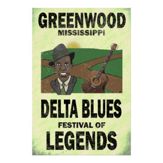 Greenwood Mississippi Delta Blues Poster
