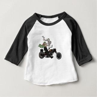 Greeny Granny on motorcycle Baby T-Shirt