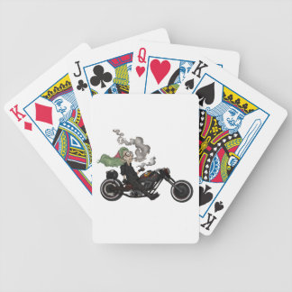 Greeny Granny on motorcycle Bicycle Playing Cards