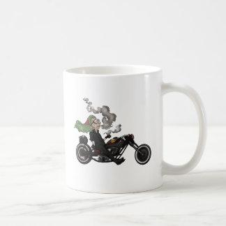 Greeny Granny on motorcycle Coffee Mug