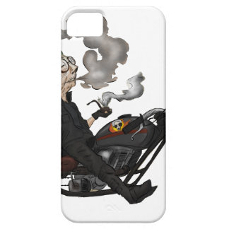 Greeny Granny on motorcycle iPhone 5 Case